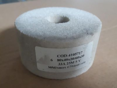 Piatra polizor cilindrica 84x40x20/60x30 33A 25M 5V 30m/s 6794rot/min